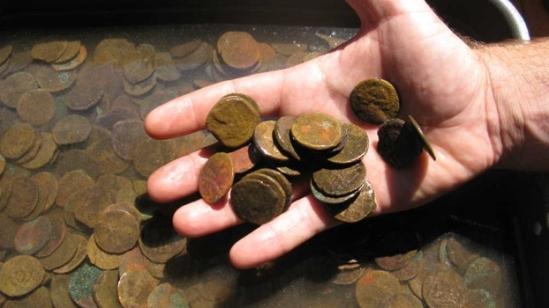 Как очистить монету от черноты в домашних условиях